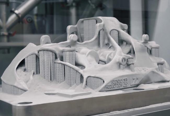 Drukowanie 3D tytanowych zacisków hamulcowych dla Bugatti